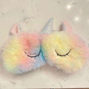 NWOT Rainbow Unicorn Sleep Mask